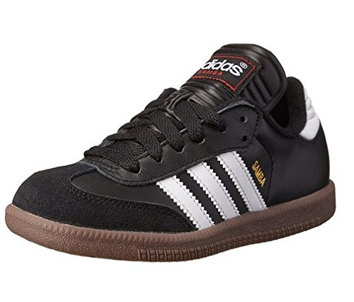 adidas Samba Classic Leather Soccer Shoe (Toddler/Little Kid/Big Kid),Black/ White,6 M US Big Kid (Adidas Shoes For Big Boys compare prices)
