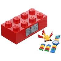 LEGO Kids' 9009921 Red Brick Clock and Creator Watch Set