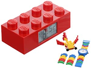 LEGO Kids' 9009921 Red Brick Clock and Creator Watch Set