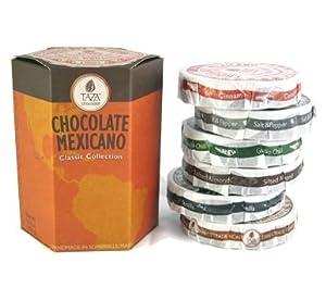 Taza Chocolate Gift Set - Includes Taza Guajillo Chili, Cinnamon, Vanilla Bean, Salt and Pepper, Coffee, and Salted Almond 171129 from Taza