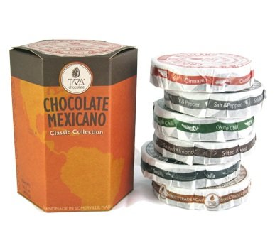 Taza Chocolate Gift Set - Includes Taza Guajillo Chili, Cinnamon, Vanilla Bean, Salt and Pepper, Coffee, and Salted Almond 171129 Taza B004MC5DLS