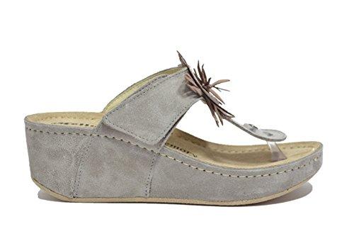 Melluso Ciabatte infradito zeppa taupe sandali donna Q60053 39