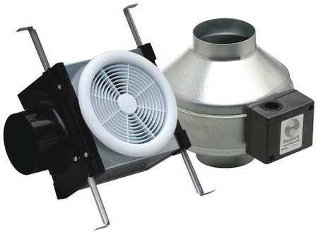 Fantech PB190 Inline Exhaust Fan, 190 CFM, Bathroom Kit with FR140 Fan - for 6