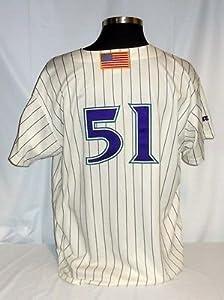Randy Johnson Arizona Diamondbacks Vintage Authentic Russell Jersey w  98 Patch by Your+Sports+Memorabilia+Store