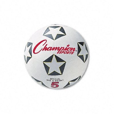Water-Resistant Rubber-Covered Sports Ball - Rubber/Nylon, No. 4 Size, White/Black(sold in packs of 3)