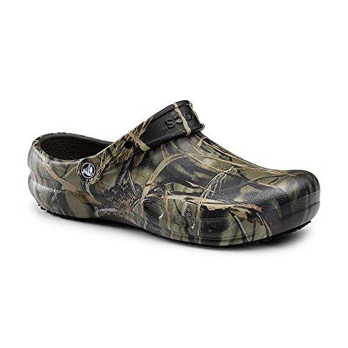 Crocs SureGrip Unisex - Adult Bistro Realtree® Camo Slip Resistant Work Clogs 10M (Crocs Chef Women compare prices)