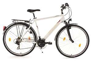 KS Cycling Herren Fahrrad Trekkingrad CLX RH 58 cm, Weiß, 28, 361B