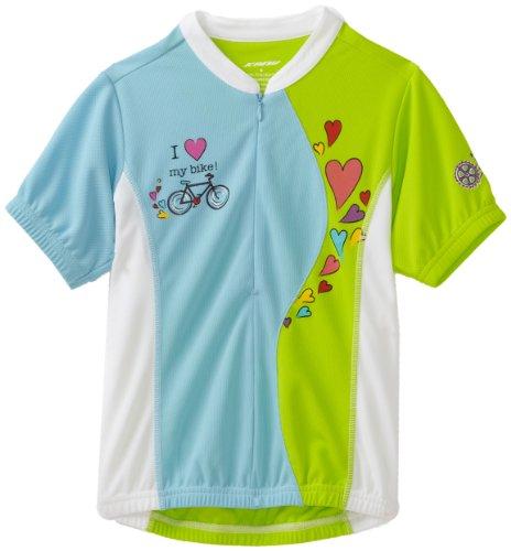 Kanu Bike Girl's Kool Kitten Cycling Jersey (Blue, Medium) (Girls Cycling Jersey compare prices)