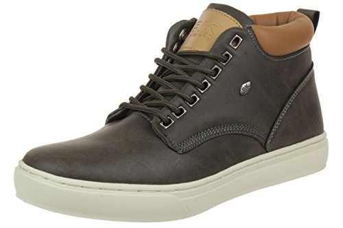 British Knights Wood Low BK men trainer Sneaker B35-3605-01 black, pointure:eur 37;Farben:Dark Grey Cognac
