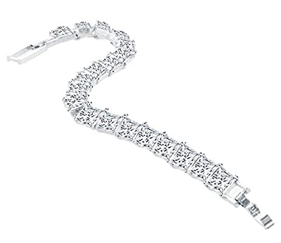 Princess Tennis Bracelet, Made with Swarovski Elements