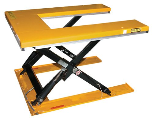 """Beacon Low Profile U Type Electric Lift Tables; Platform Size (W X L): 52-1/2"""" X 55-3/4""""; Capacity: 2,000 Lbs; Lowered Height: 3-1/2""""; Raised Height: 33-1/2""""; Model# Behu-2"""