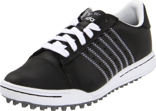 adidas JR. adicross Golf Shoe (Little Kid/Big Kid),Black/White/Black,3 M US Little Kid