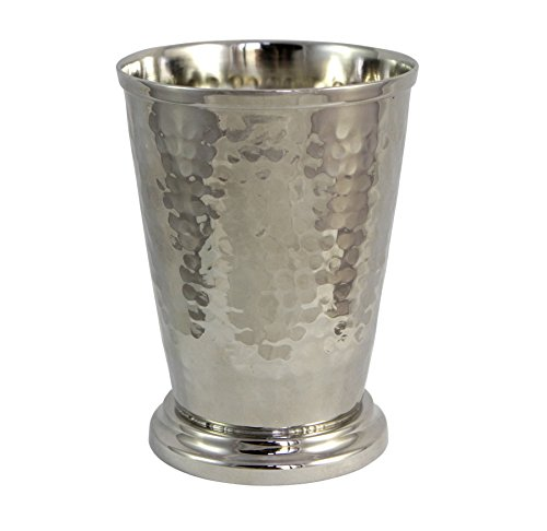 Premium Quality Handmade Hammered Finish Mint Julep Cup Brass Nickel Plate Drinkware - 12 oz Barware Designer Cups