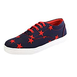 Sparkle Mens Blue Canvas Shoes - 9 UK