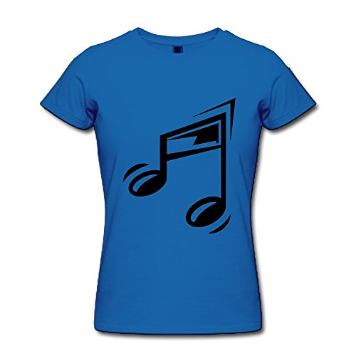 Ptcy Girls' T-Shirts Cartoon Musical Note Us Size Xxl Royal Blue front-492471