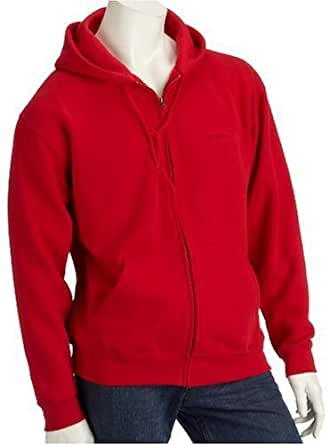 Fruit of the Loom Classic Hooded Sweat Jacket Rot,S