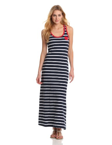 Hatley Women's Stripe Maxi Dress, Navy/White Stripes, Small