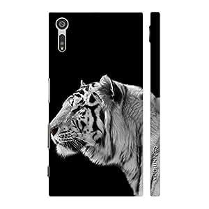 Enthopia Designer Hardshell Case White Tiger 2 Back Cover for Sony Xperia XZ