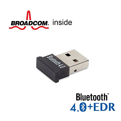 Bluetooth adattatore Dongle, GMYLE® Ultra-Mini USB Broadcom BCM20702 Classe 1.5 Bluetooth V4.0+EDR Dual Mode Dongle wireless adattatore