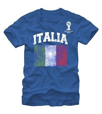 Buy FIFA 2014 World Cup Soccer - Italia Italy Flag - T-Shirt by Fifth Sun