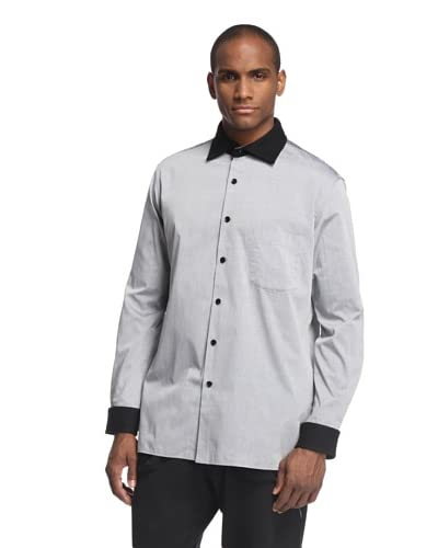 adidas Y-3 by Yohji Yamamoto Men's Long Sleeve Shirt with Removable Collar
