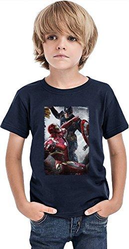 Captain America 3 Civil War Battle Ragazzi T-shirt Stylish T-Shirt For Boys Fashion Fit Kids Printed Clothes By Slick Stuff 8/9 yrs