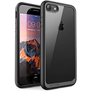 Funda iPhone 7, SUPCASE Unicorn Beetle Style Premium Funda protectora transparente híbrida para Apple iPhone 7 2016 Release (negro)