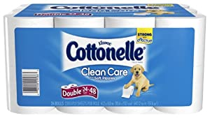 Cottonelle Double Roll Toilet Paper, 24 Pack (Pack of 2)