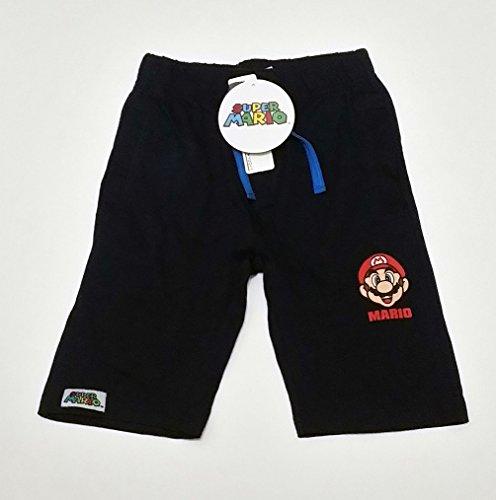 Pantalone corto in cotone Super Mario Bros blu da 5 e 8 Anni