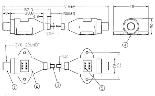 隙間ケーブル サッシケーブル 50cm 極細型(防水キャップ付属)地デジ・BS・CS対応 F型接栓タイプ CRA-50