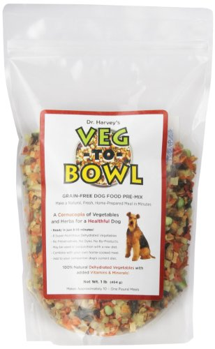 Dr. Harvey's Veg-To-Bowl Grain-free Dog Food Pre-Mix, 1 Pound