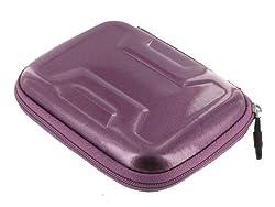 Memory Foam Hard Shell Case (Candy Lilac Purple) for Western Digital My Passport Essential SE 1TB Portable Hard Drive WDBACX0010BBK Black