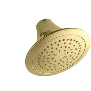 KOHLER K-10282-PB Forte Single-Function Showerhead, Vibrant Polished Brass