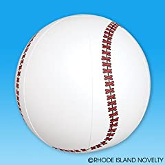 Buy BASEBALL INFLATES - 1DZ 16 inches Inflatable baseballs - Birthday Party Favors Decor... by RN