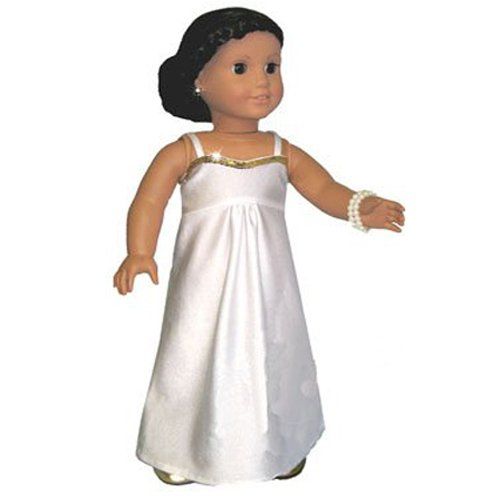 Dress White Spandex American Dolls