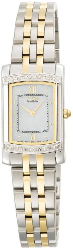 Citizen Women's Eco-Drive Stiletto Diamond Accented Two-Tone Watch #EG3124-51D