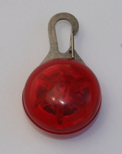 Dog Collar Safety Light - Red