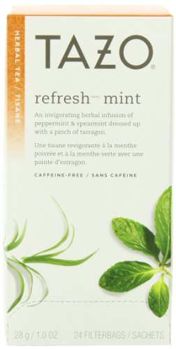 Tazo Refresh Mint Filter Bag Tea, 24-Count Packages (Pack of 6)