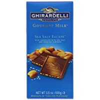 Ghirardelli Chocolate Gourmet Milk Bar, Sea Salt Escape, 3.5-Ounce Bars (Pack of 6)