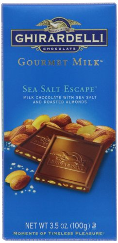 Ghirardelli Chocolate Gourmet Milk Bar, Sea Salt & Almonds Milk Chocolate, 3.5-Ounce Bars (Pack of 6) (Ghirardelli Bar compare prices)