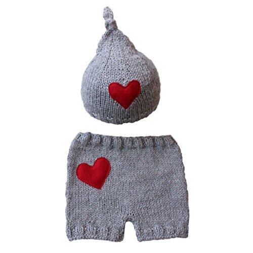 Jastore® Newborn Infant Baby Boy Photography Prop Costume Cute Cap Pants (Style 20) (Newborn Christmas Costume)
