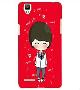 PrintDhaba Cartoon D-4256 Back Case Cover for OPPO F1 (Multi-Coloured)