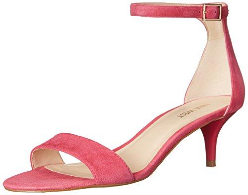 Nine West Women's Leisa Suede Heeled Sandal, Dark Pink, 10