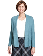 Classic Ribbed Cardigan with Modal