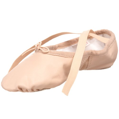Sansha Silhouette Leather Ballet Slipper,Pink,11 M US Women's/7 M US Men's