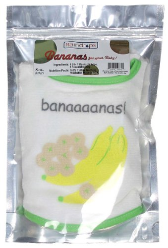 Raindrops Bib-to-Go 3-Piece Gift Set, Bananas