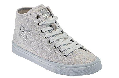Liu Jo Pizzo Bianco Mid Sneakers Nuovo Tg 40 Scar.