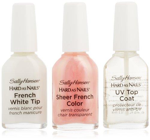 sally hansen hard as nails french manicure set sheer opal 3 ct sally hansen beautil. Black Bedroom Furniture Sets. Home Design Ideas