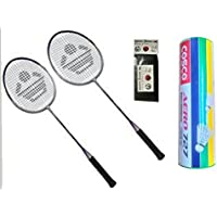 Cosco CB 885 Combo Baminton Kit WITH FREE SPORTSHOUSE WRIST BAND - B01JIZPCKK