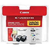 Canon PIXMA MP495 Black and Color Ink Cartridge Combo Pack (OEM)